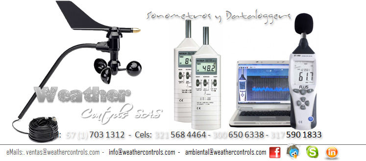 Weather Controls Sonometros y Dataloggers